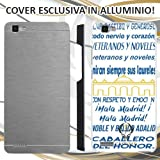 CUSTODIA COVER CASE CORO REAL MADRID PER HUAWEI P8 LITE SMART ALLUMINIO