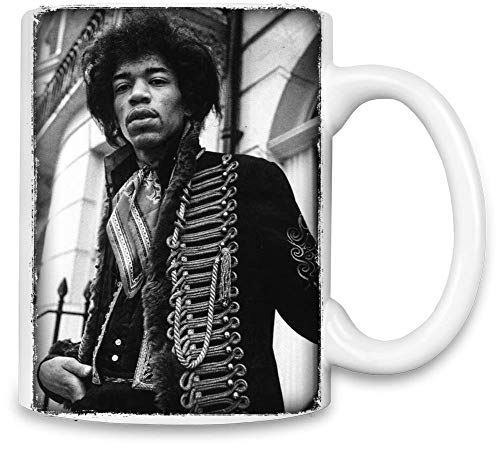 Jimi Hendrix Porträt Portrait Unique Coffee Mug | 11Oz Ceramic Cup| The Best Way to Surprise Everyone On Your Special Day| Custom Mugs by -