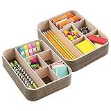 mDesign Schreibtisch Organizer mit 6 Fächern - der ideale Schreibtisch Butler - praktische Fächerbox