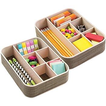 2er-Set Durchsichtig Klebeband mDesign B/üromaterial-//Schreibtisch-Organizer f/ür Schere Stifte Gro/ß Notizbl/öcke Textmarker Bleistifte