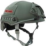 OneTigris MH Mode Leichtbau Taktische Schnelle Helm für Airsoft Paintball (Schwarz) (Grau)