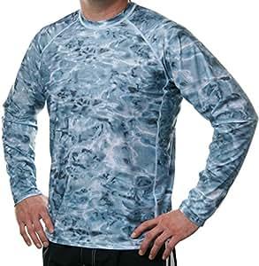 Aqua Design Men Loose Fit Long Sleeve Upf Athletic Swim