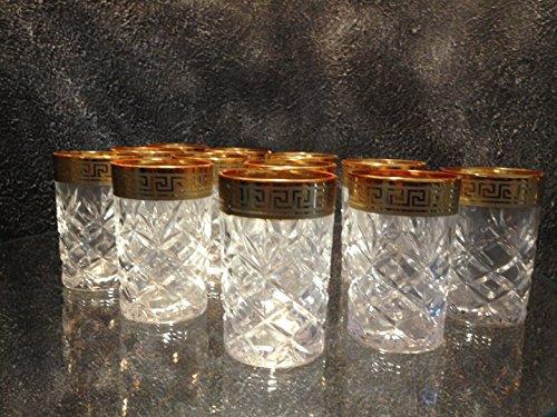 Medusa-Mander-Whiskey-Glser-Glas-Kristall-Tassen-Gold