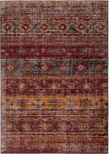 Outdoor-rot-teppich (In- & Outdoor Teppich Vintage Ethno Design Rot Größe 80 x 150 cm)