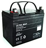 Ultramax NPG35-12, 12V 35Ah 20HR 36 Hole Golf Trolley Battery