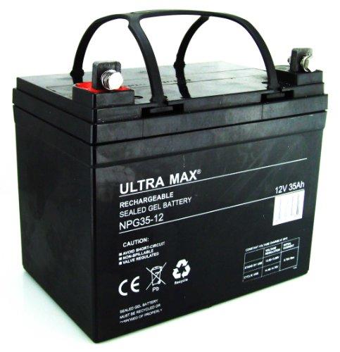 Ultramax NPG35–12, 12V 35Ah, ore, 36fori batteria per carrelli da golf (come 30Ah, 31Ah, 32Ah, 33AH, 36Ah)