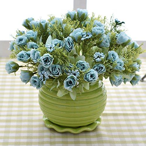 Self-My Künstliche Blumen Topfpflanzen Kunststoff Eingerichteten Speisesaal Möbel Wohnzimmer Setup Simulation Granatäpfel Von Blauen Und Grünen Flasche See Gefälschte Blumen (See-brautstrauß)