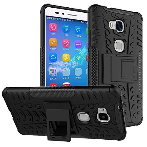 Colorcase Hybrid Back Cover Case for Honor 5c - Black