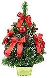 Christmas Concepts® 60cm Albero glassato Decorato con pigne e Decorazioni Rosse