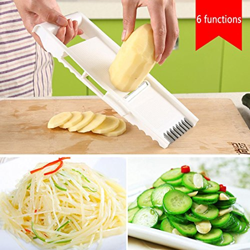 TAOtTAO Kitchen multi-function 6-piece cutlery peeling planing cucumber slices potato shredded garlic grinder