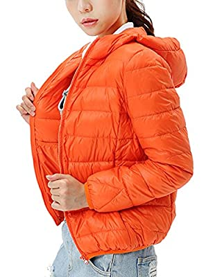 Damen Daunenjacke Leicht Winter Jacke Daunenmantel Übergangsjacke Steppjacke Mit Kapuze