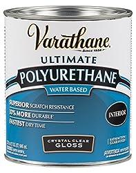 Rust-Oleum Varathane Water-Based Polyurethane for Interior Furniture & Wood Polish, 946 ml, GLOSS Finish