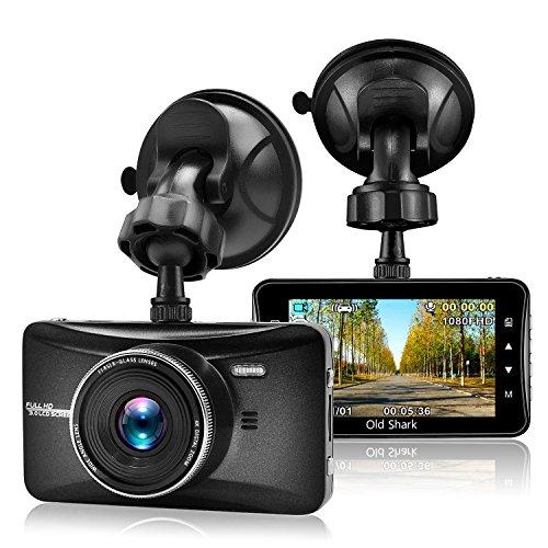 oldshark in KFZ Dash Cam, 1080p Full HD Auto Kamera Video Recorder 170° Weitwinkel Armaturenbrett DVR Camcorder mit Bewegungserkennung Loop Aufnahme und G-Sensor