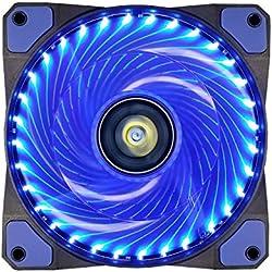 Ventola PC,CONISY 120 mm LED Ventilatore Ultra silenzioso di Raffreddamento per Computer Case (blu)