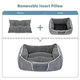 Pecute Hundebett Haustierbett für Katzen und Hunde Rechteck Ultra Weicher Plüsch luxuriöse Haustier-Schlafsack Maschine waschbar - 5