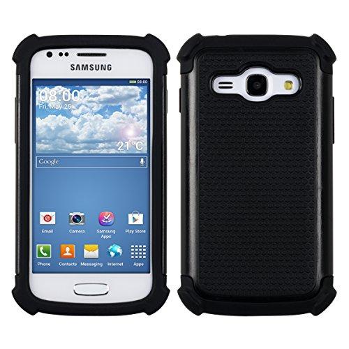kwmobile Hybrid Outdoor Hülle für Samsung Galaxy Ace 3 - Dual TPU Silikon Hard Case Handy Hard Cover in Schwarz