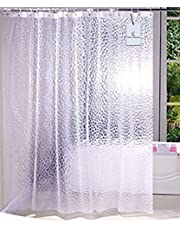 Kuber Industries™ 0.20mm PVC Shower Transparent Curtain in Coin 3D Design (Width-54 Inches X Height-84 Inches) 7 Feet (C0831)