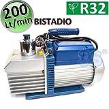 POMPA DEL VUOTO BISTADIO 200 LT/MIN PER IMPIANTI GAS R32 R1234YF - VE260