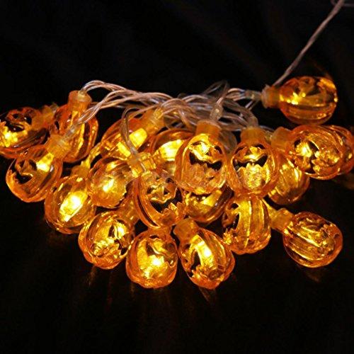 20er Halloween Deko LED Kürbis Lichterkette Gruselig Party Dekoration  Batteriebetrieb (Haushaltswaren)