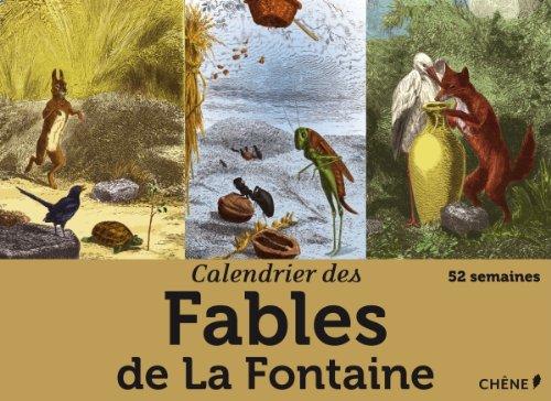 Calendrier 52 semaines Fables de La Fontaine par Collectif