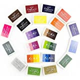 yalulu Craft–Almohadilla de tinta almohadilla de tinta, artcastle 21colores Set, niños, DIY, Rainbow, huellas dactilares, lavable