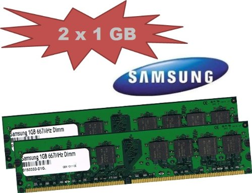 1gb 667mhz Pc5300 Ddr2 Speicher - Mihatsch&Diewald Samsung 2048MB 2x 1Gb 1024MB
