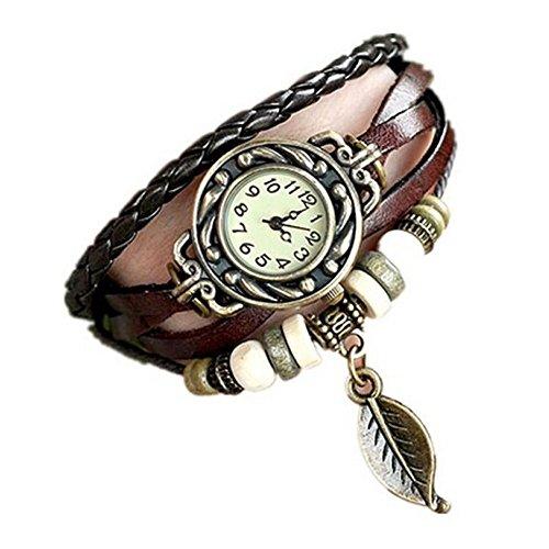 Reloj de pulsera con diseño de pluma colgante, de la marca Winwintom