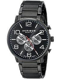 Akribos XXIV AK803BK - Reloj de cuarzo para hombres, color negro