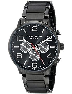 Akribos XXIV Herren-Armbanduhr AK803BK Analog Quarz