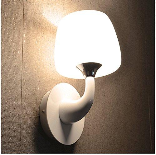 vernice-metallizzata-bianco-semplice-fungo-lampada-da-parete-singola-testa-vetro-bianco-ombra-portat