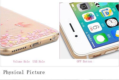 iPhone 6sPlus Cover, MAOOY Moda Flower Animal Frutta Flamingo Modello Design Case per iPhone 6Plus, Flessibile Ultra Sottile Leggero Bumper Copertura di Soft Gomma Sveglio Cristallo Gel Antiurto Prote Alieno