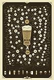 Pop Chart Lab Types de bière Poster-Le très Bon Nombre de variétés de bière Marron/Grande Affiche 24x 36-sans Cadre