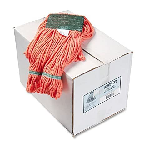 UNISAN Super Loop Wet Mop Heads, Cotton/Synthetic, Medium Size, Orange by Unisan