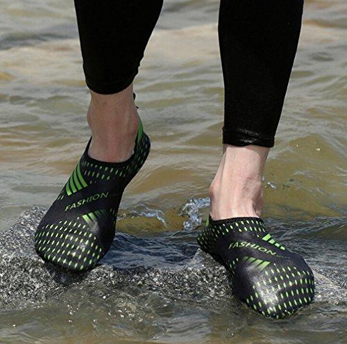 SMITHROAD Unisex Schnelltrockende Rutschfeste Fitnessschuhe Aquaschuhe Für Damen Herren Strandschuhe Schwimmschuhe Schwarz