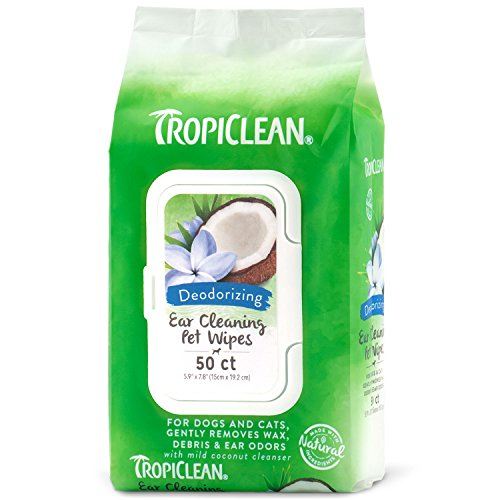 Wipes, Hunde Für Ear (TropiClean Ear Cleaning Deodorize Pet Wipes Alcohol Free Soothes No Odor 50ct)
