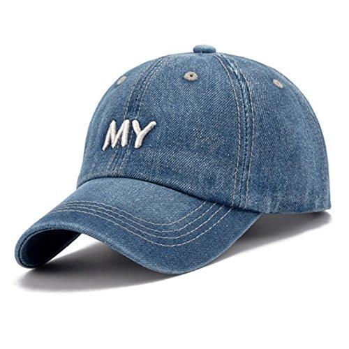 KeepSa Cappello da Baseball Uomini Donne con Snapback Caps Cappelli Visiera  Osso Jeans Denim Blank Gorras ffd9bdcc903