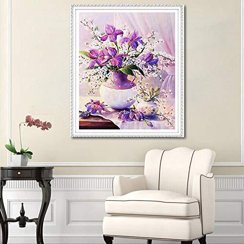 Coral Vaughan DIY 5d Diamant Painting,das Ende der Geduld,Diamond Painting Set mosaik,kreuzstich,Diamant Stickerei,Schöne romantische Blume warme dekorative Malerei-70X100