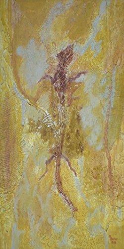 """Infrarotheizung Bildheizung PREMIUM, rahmenlos mit Bild, 900 Watt, 120x60x1,5 cm, Motiv """"Fossil hoch"""""""