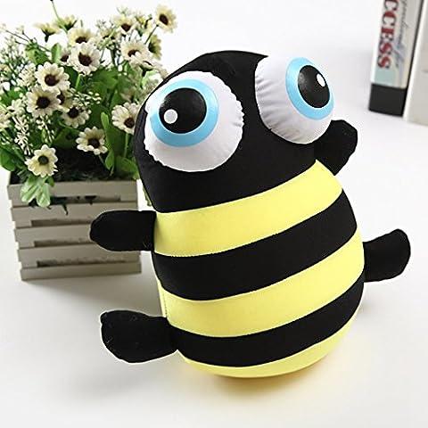 Edealing (TM) Nettes großes Auge-Bienen-Puppe-Karikatur-Tierkissen-Plüsch-angefülltes Spielzeug für Kinder Baby -10.24