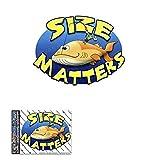 Adesivi per auto da pesca con piccoli animali SIZE MATTERS FESTA MARE - ST00006_1 - Adesivi JAS