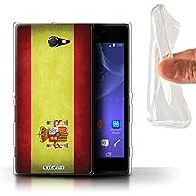 Carcasa/Funda STUFF4 TPU/Gel para el Sony Xperia M2 / serie: Banderas - España Español