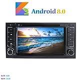 Android 8.0 Autoradio, Hi-azul In-Dash 2 Din Car Radio 8-Core 64Bit RAM 4G ROM 32G Car Audio Récepteur de Radio de Voiture 7 Pouces Stéréo Voiture avec 1280*600 Écran Tactile et Lecteur DVD pour Volkswagen TOUAREG/ T5 Multivan/ Transporter Soutien Contrôle du Volant, RDS, WiFi, Bluetooth, Mirror-Link (Autoradio)