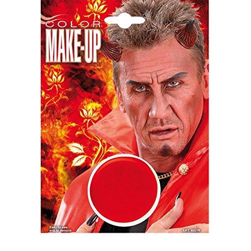 NET TOYS Wasserfestes Make Up Rot Schminke Makeup Teufel Theater Karneval Fasching Halloween Gesichtsschminke