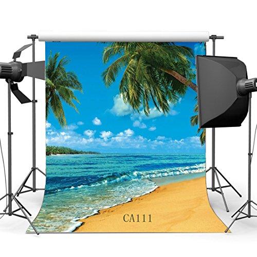 150x 210cm Seaside Beach Scenery dünn Vinyl nahtlos Foto Hintergründen Maßgeschneiderte Studio Hintergrund Studio Requisiten für Studio/Party Dekorationen Ca111 ()