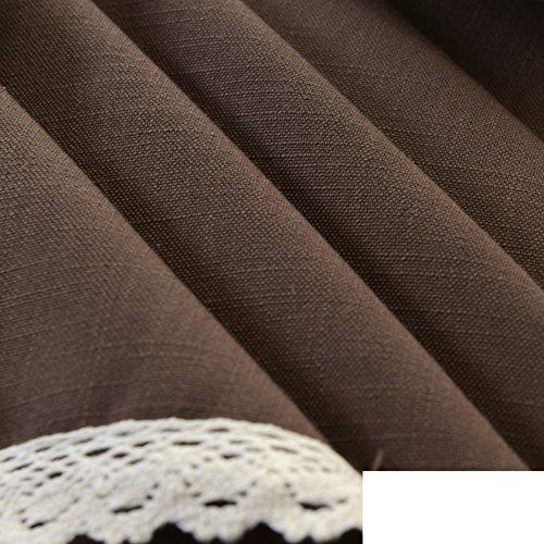 LJ&XJ Einfarbige baumwolle leinen tischdecken,Langlebige tischdecken für rechteck runde square tisch grün blau braun grau rot tischdecken für dining table couchtisch picknick tv schrank schreibtisch-C 135x135cm(53x53inch) (Grüne Leinen-tischdecke Rechteck)