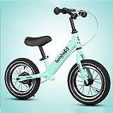 GXQZCL-1 Kinder Laufrad,Laufräder, Balance Bike Carbon Stahlrahmen Strider Fahrrad, 12' Kinder-Walker Push-Bike mit verstellbarem Sitz/Lenker ohne Pedale for 2-4 Jahre alt (Color : Green)