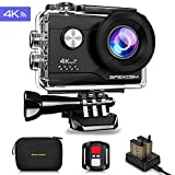 Apexcam Cámara Deportiva 4K 20MP WiFi Ultra HD Cámara subacuática Impermeable 40M Action Camera...
