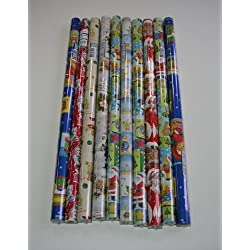 10Rollos de papel de regalo de Navidad 200x 70cm