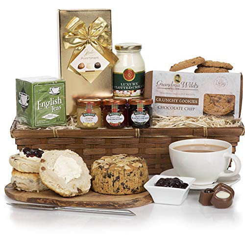 Mother's Day Luxury Cream Tea Gift Hamper - Perfect Gift for Mothers Day, Birthday, Thank You & Special Occasions