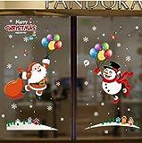 Jkxiansheng 70X50 Cm Merveilleux Noël Stickers Muraux Fenêtre En Verre Festival Stickers Santa Murales Nouvel An Décorations Pour La Maison Décor